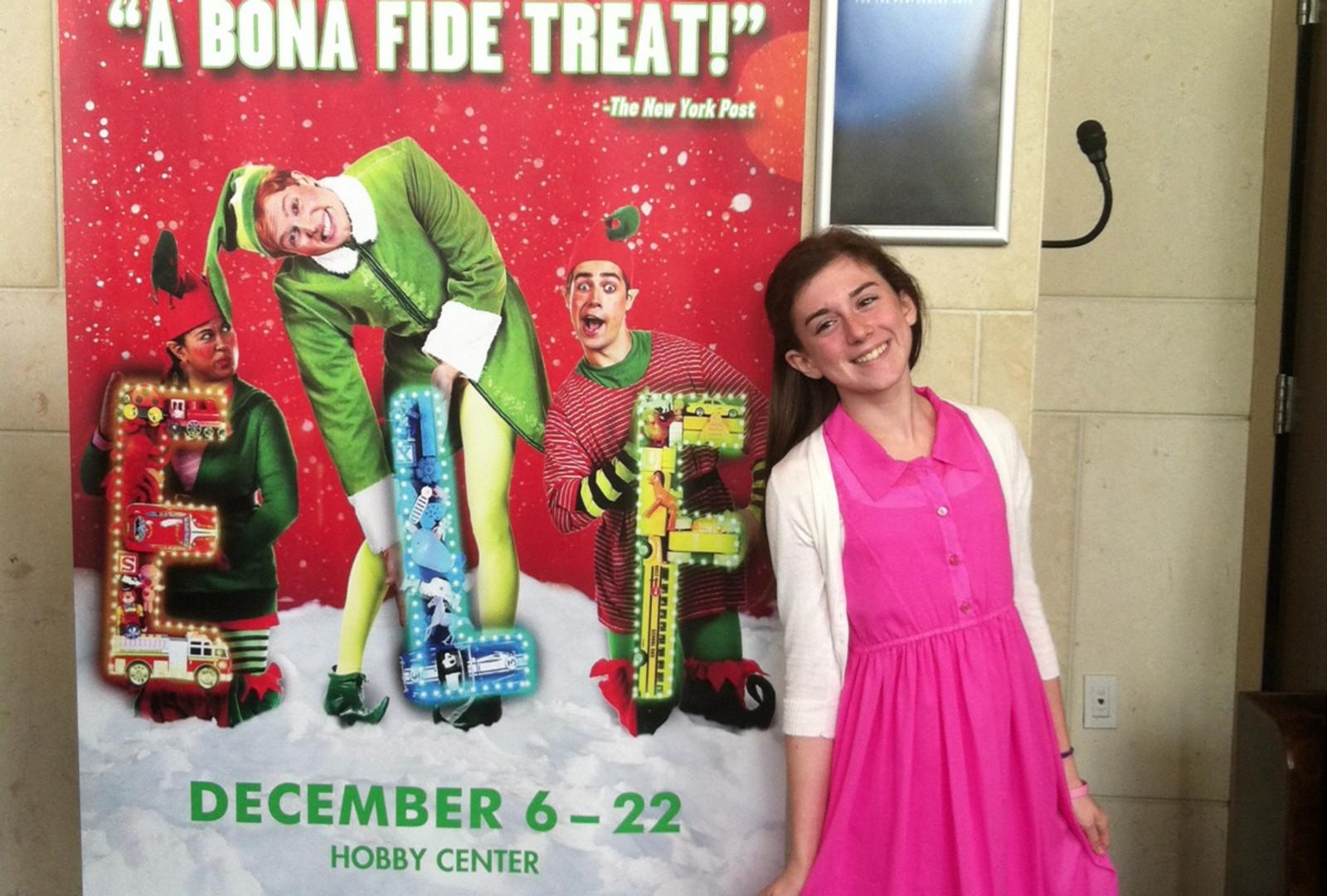 Lauren with Elf poster.jpeg