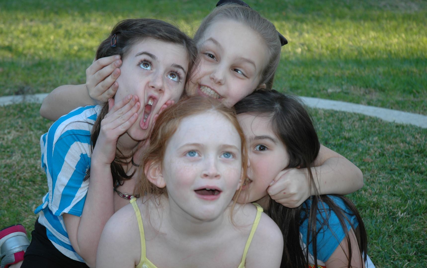 Annie friends goofing.JPG