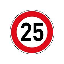 25 kmh Sticker