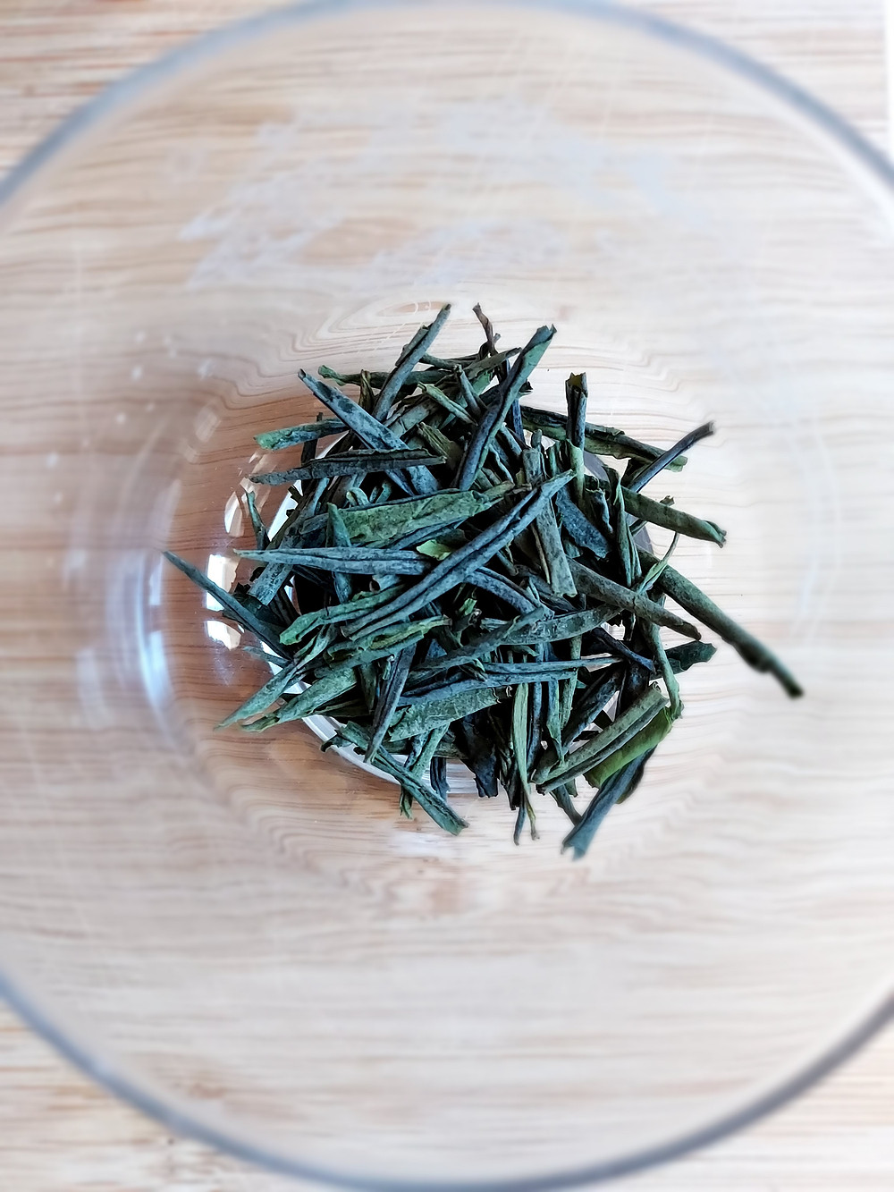 Melon Seed green tea leaves in a cup