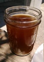 Bone broth in a jar for drinking