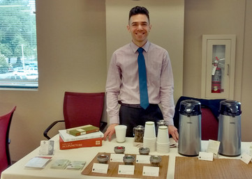 Michael providing tea tasting and education.
