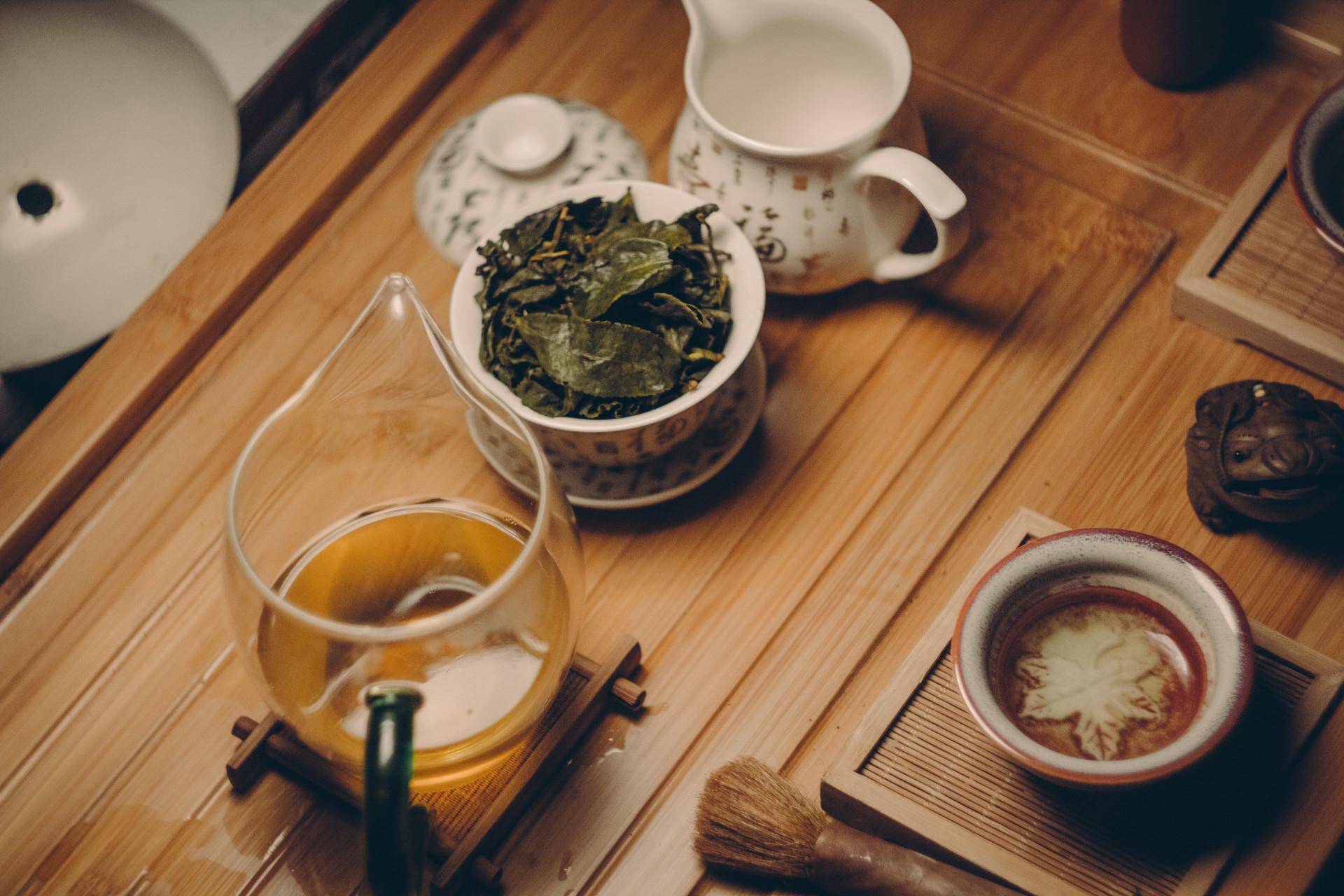 Chinese-style tea tasting