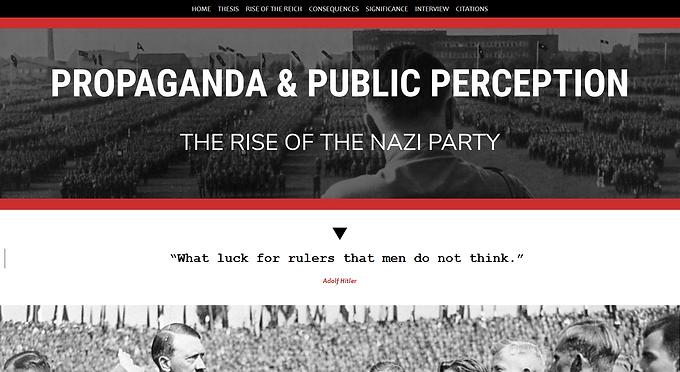 Propaganda and Public Perception: the Rise of the Nazi Party