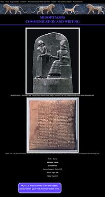 Mesopotamia - Communication and Writing
