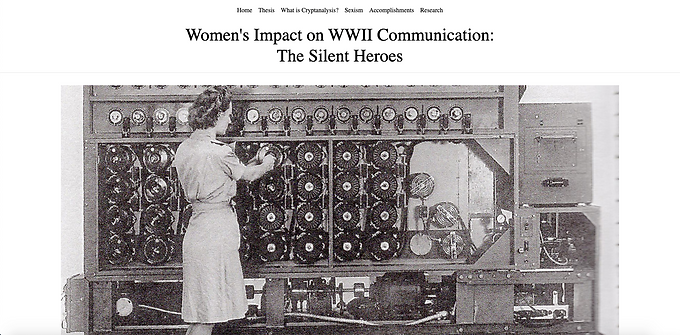 Women's Impact on WWII Communication:The Silent Heroes