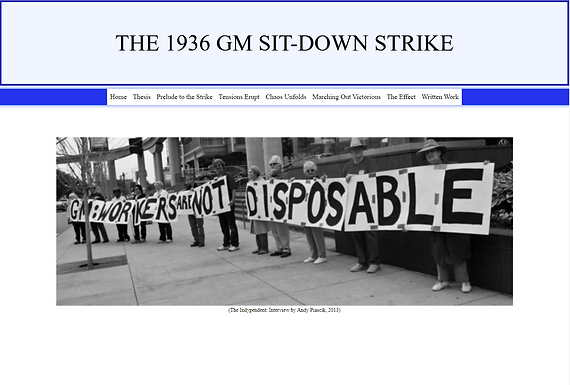 The 1936 GM Sit-Down Strike