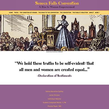 Seneca Falls Convention: A Rise to Woman Empowerment