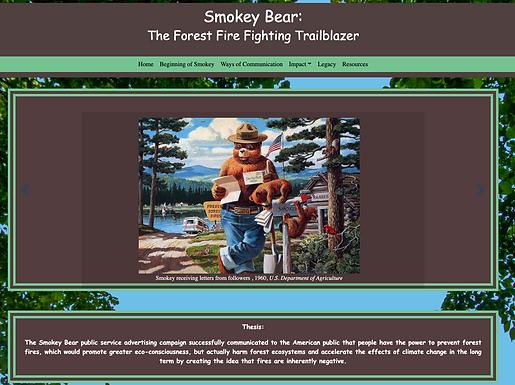 Smokey Bear: the Forest Fire Fighting Trailblazer