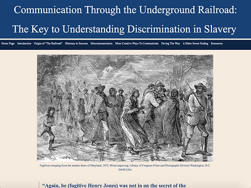 Communication through the Underground Railroad: The Key to Understanding Discrimination in Slavery