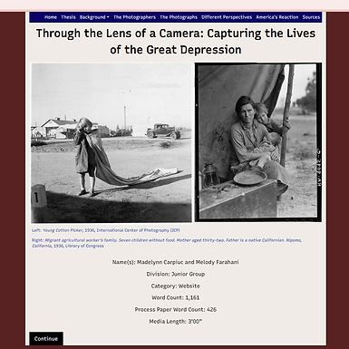 Through the Lens of a Camera: Capturing the Lives of the Great Depression