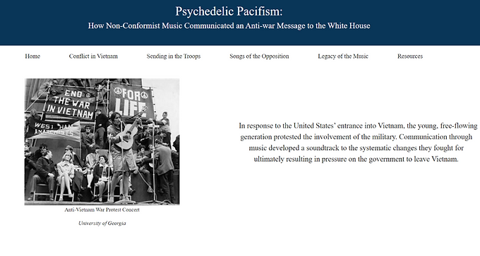 Psychedelic Pacifism: How Non-Conformist Music Communicated an Anti-war Message to the White House