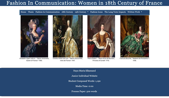 Fashion In Communication: Women in 18th Century of France