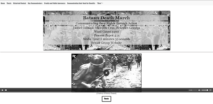 Bataan Death March- Communicating thier Rights through Action