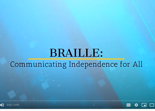 Braille: Communicating Independence for All