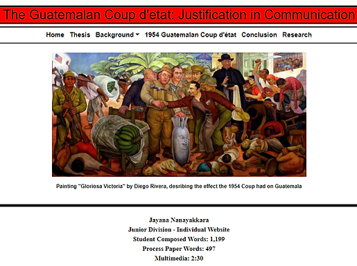 The Guatemalan Coup d'etat: Justification in Communication