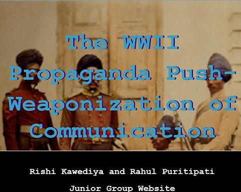 The WWII Propaganda Push: Weaponization of Communication