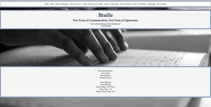 Braille: New Form of Communication, New Form of Opportunity