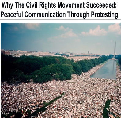 Why the Civil Rights Movement Succeeded: Peaceful Communication through Protesting