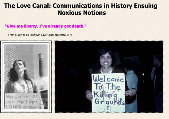 Love Canal: Communication in HIstory