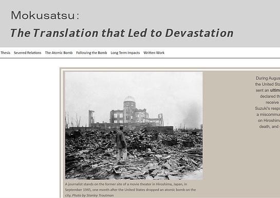 Mokusatsu: The Translation that Led to Devastation