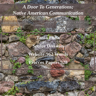 A Door to Generations: Native American Communication