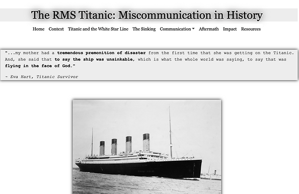 The RMS Titanic: Miscommunication in History