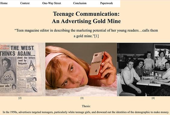 Teenage Communication:        An Advertising Gold Mine