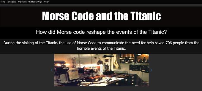 Morse Code and the Titanic