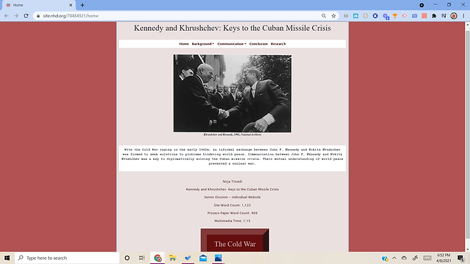Kennedy and Khrushchev: Keys to the Cuban Missile Crisis