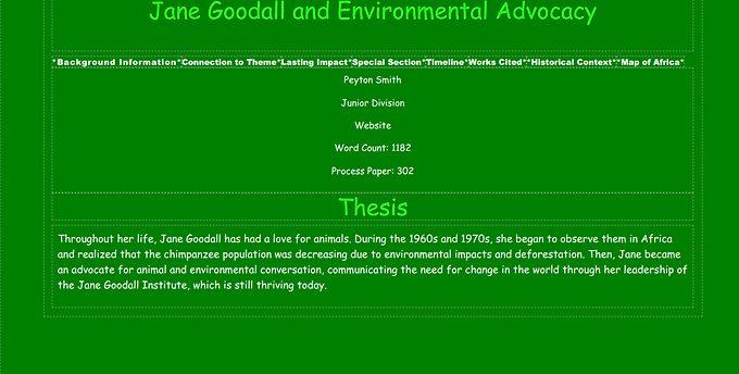 Jane Goodall and Environmental Advocacy