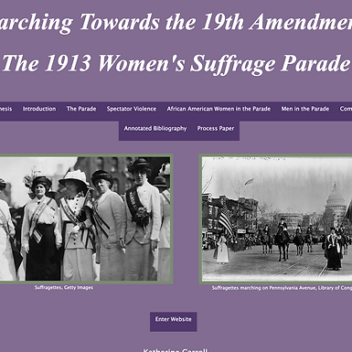 Marching Towards the 19th Amendment: The 1913 Women's Suffrage Parade
