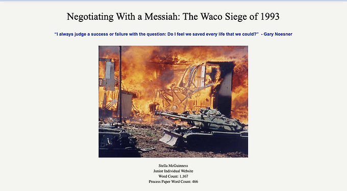 Negotiating with a Messiah: The Waco Siege of 1993