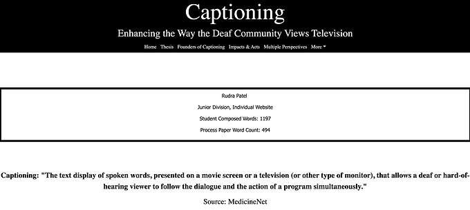 Captioning: Enhancing the Way the Deaf Community Views Television