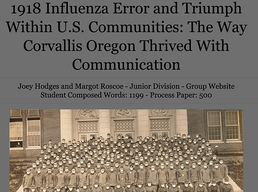 1918 Influenza Error and Triumph Within U.S. Communities: The Way Corvallis Oregon Thrived With Communication