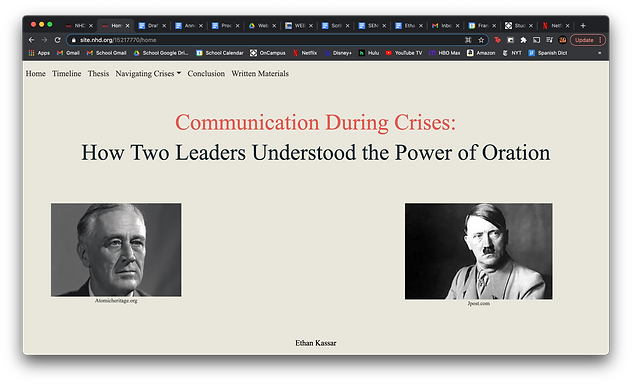 Communication During Crises: How Two Leaders Understood the Power of Oration