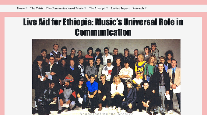 Live Aid for Ethiopia: Music's Universal Role in Communication