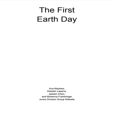 1970: First Earth Day