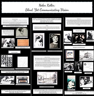 Helen Keller: Blind, Yet Communicating Vision