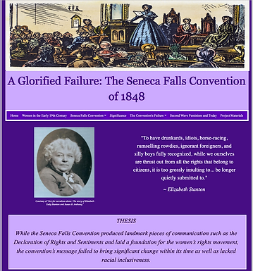 A Glorified Failure: the Seneca Falls Convention of 1848