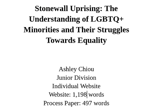 Stonewall Uprising: The Understanding of LGBTQ+ Minorities and Their Struggle Towards Equality