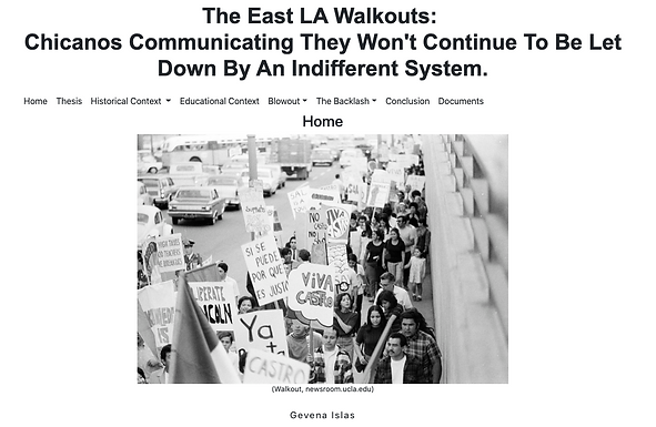 The East LA Walkouts:  Chicanos Communicating They Won't Continue To Be Let Down By An Indifferent System