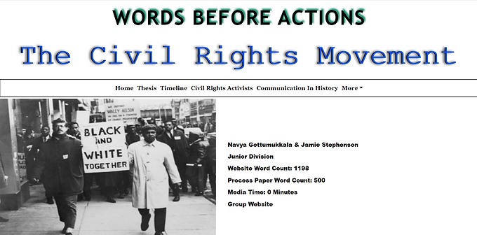 Words Before Actions; The Civil Rights Movement