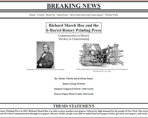 Richard March Hoe and the 6-Barrel Rotary Printing Press