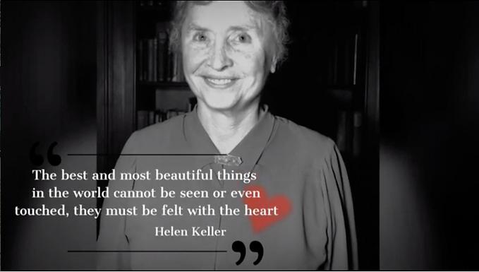 Helen Keller as Code and Decoder