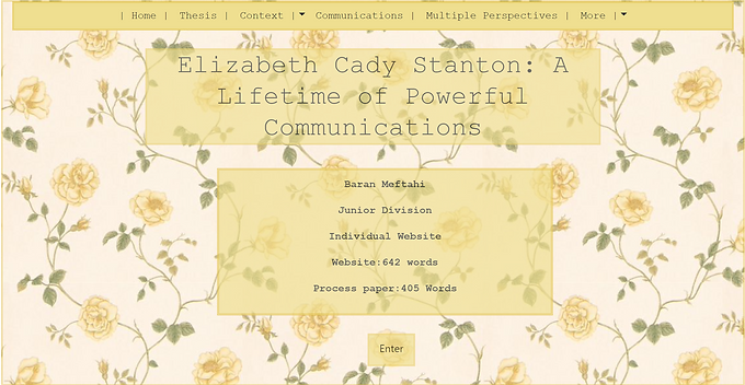 Elizabeth Cady Stanton: A Lifetime of Powerful Communications