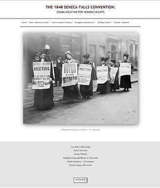 The 1848 Seneca Falls Convention: Communication for Women's Rights