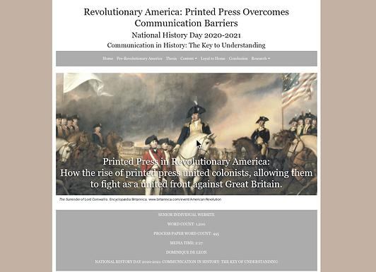 Revolutionary America: Printed Press Overcomes Communication Barriers