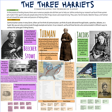 The Three Harriets: Communicating the Horrors of Slavery