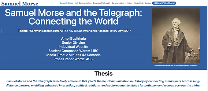 Samuel Morse's Telegraph: Connecting The World.